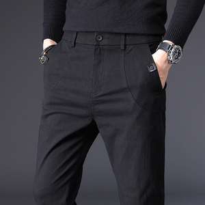 男士休闲裤2020春季新款韩版潮流修身长裤纯棉裤子青年弹力小脚裤
