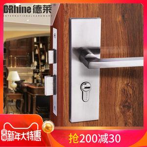 德莱 中式静音门锁室内卧室门锁 卫生间简约<span class=H>实木门</span>执手锁三件套装