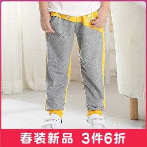 童装男童裤子2018新款春秋儿童中大童休闲长裤运动裤男孩潮裤