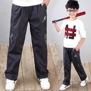 男童<span class=H>冲锋裤</span>加棉夹棉儿童冬季冬天运动7户外9休闲裤12大童男孩15岁