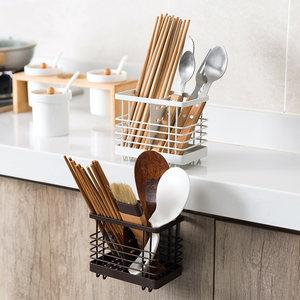 铁艺沥水筷笼筷子筒筷子架筷子盒家用沥水架厨房勺子收纳盒筷子笼