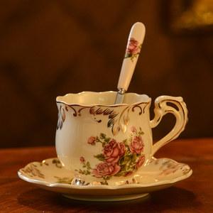 欧式咖啡杯套装 家用<span class=H>陶瓷</span><span class=H>杯子</span>英式茶具咖啡杯碟 下午茶<span class=H>杯子</span>带勺碟