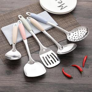 厨房铲勺套装<span class=H>锅铲</span>汤勺菜勺家用隔热不锈钢铲勺厨房炒菜铲长柄厨具