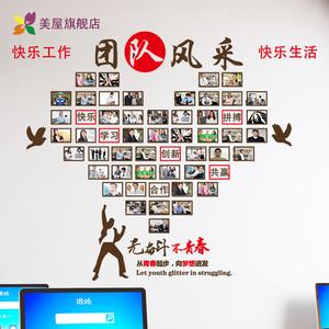员工团队风采<span class=H>文化</span>墙装饰励志墙贴<span class=H>办公</span>室企业公司照片墙贴纸自粘贴