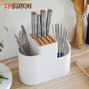日本家用橡木<span class=H>刀</span>架餐具置物架木质放<span class=H>刀</span>的<span class=H>架子</span>插<span class=H>刀</span>架菜<span class=H>刀</span>座厨房工具