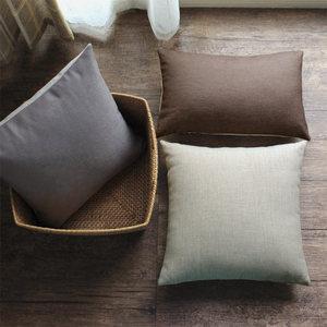 夏季沙发<span class=H>抱枕</span>定制不含芯床头椅子北欧纯色靠枕棉麻大靠背垫靠垫套