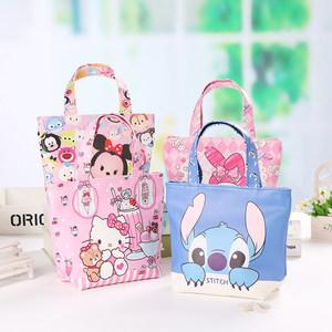 简约饭盒袋手拎<span class=H>布袋</span>子少女卡通手提包装午餐便当包日本pu可爱小号