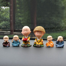 Car pendulum head shaking cute little monk car decoration safety car interior ornaments car decorations