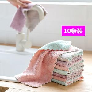 家务清洁<span class=H>抹布</span>厨房用品洗碗布吸水不掉毛不沾油擦桌子洗碗布擦手巾