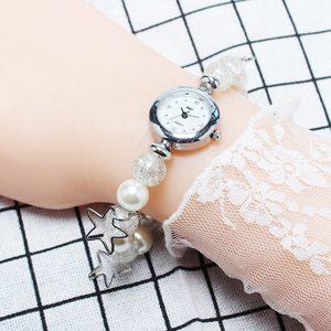 韩版休闲学生装饰时尚潮流韩版珍珠女士<span class=H>手链</span>表防水缠绕时装<span class=H>手表</span>女