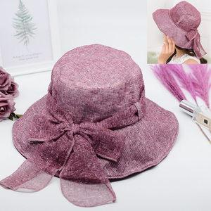 棉麻渔夫帽夏季太阳帽子大檐女防晒遮阳透气布帽可折叠碎花沙滩帽