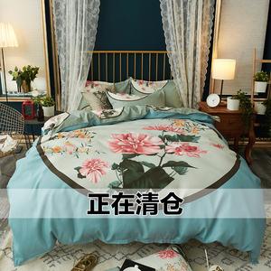 纯棉冬季加厚床上<span class=H>用品</span>四件套时尚大版花婚庆床单被套1.8/2.0m