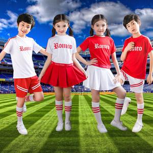 六一儿童舞蹈新款啦啦操演出<span class=H>服装</span>健美操男幼儿体操运动会女拉拉队