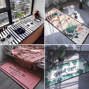 长条地垫厨房吸水防滑地垫飘窗卧室床边垫卡通床前地毯可机洗方形