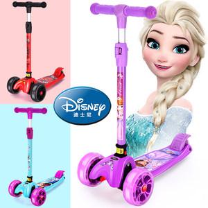 迪士尼<span class=H>滑板车</span>儿童3-6岁8两2四轮初学者1男女宝宝12小孩溜溜滑滑车