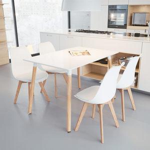 伊姆斯饭桌家用北欧<span class=H>餐桌</span>椅组合现代简约小户型长方形4/6人经济型