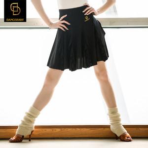 Dancebaby拉丁舞服装女成人新款<span class=H>拉丁舞裙</span>练功裙半身裙大摆裙DA38