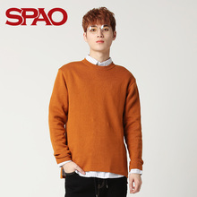 SPAO Men's Sweater Men's New Type Young Sweater Men's Underwear Business Knitted Shirt Men's SPKW911M01
