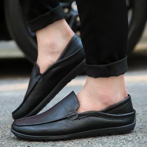 2018新款春季男士<span class=H>豆豆</span><span class=H>鞋</span>韩版休闲<span class=H>鞋</span>皮<span class=H>鞋</span>一脚蹬懒人<span class=H>鞋子</span>百搭<span class=H>男鞋</span>潮
