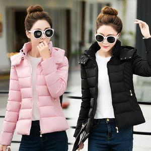 2018冬季新款<span class=H>棉衣</span>女短款韩版修身羽绒棉服百搭时尚休闲服装女外套