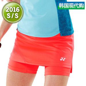 韩国正品代购2015新款YONEX/<span class=H>尤尼克斯</span>羽毛球服<span class=H>女</span>士<span class=H>裙子</span>61PS002FCO