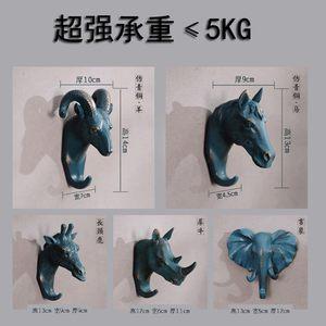 。创意家居饰品树脂<span class=H>马头</span>挂钩立体动物壁挂包邮