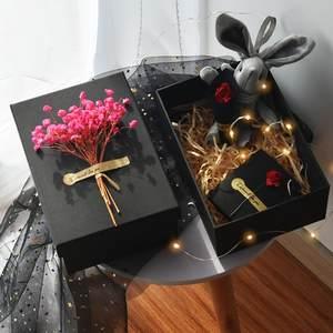 口红<span class=H>礼品盒</span>精美小号好看盒装可爱纯色圣诞节生日热门环保小学生
