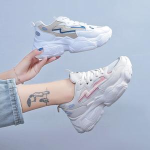 戈念老爹鞋女ins潮小白鞋夏款5cm厚底网红<span class=H>鞋子</span>超火运动鞋女透气