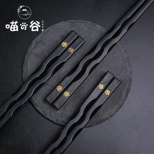 合金筷子家用高档餐具套装耐高温防滑防霉抗菌10双家庭礼盒装快子