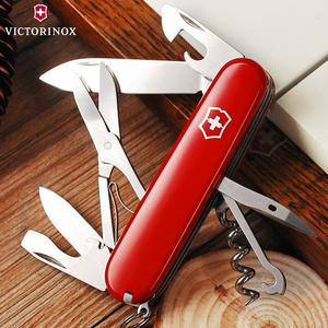 维氏瑞士军士刀攀登者红多功能随身防身迷你折叠高硬度锋利小刀具