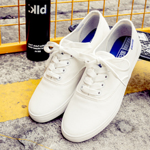Thin-soled small white shoes for women 2019 new type of literary canvas shoes Korean version of ulzzang flat-soled students ins white shoes