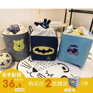 出口儿童卡通玩具收纳桶大号布艺收纳筐宝宝杂物收纳篮衣物脏衣桶