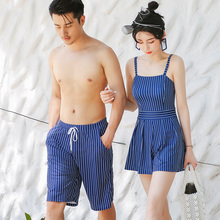 2008 new couple swimsuit female conservative hot spring swimsuit men's beach pants holiday Suit Swimsuit