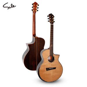 正品韩国Sole单板吉他41寸民谣 高端面单系列SG-317C/GN