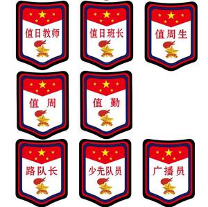 劳动少先队小学生臂章学习委员绿色袖章值日生牌卫生文娱标志臂章