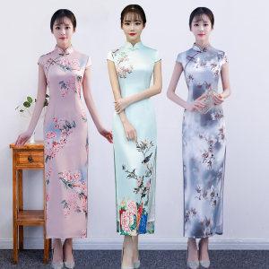 <span class=H>旗袍</span>裙夏季2019新年轻款少女日常复古传统改良式连衣裙中长款优雅