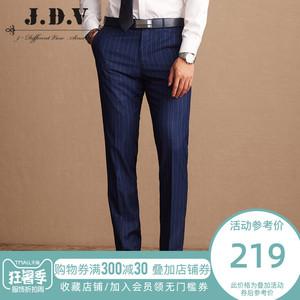 JDV<span class=H>男装</span> 春季款新品男士 商务休闲直筒西服男长裤 条纹西裤<span class=H>西装</span>裤