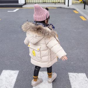 女宝宝棉衣2018新款4女童1棉服2儿童3岁冬装中长款洋气棉袄外套潮