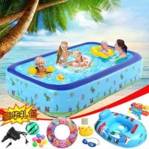 小型儿童<span class=H>游泳池</span>家用可折叠小孩游泳桶户外水围栏沐浴桶大型幼