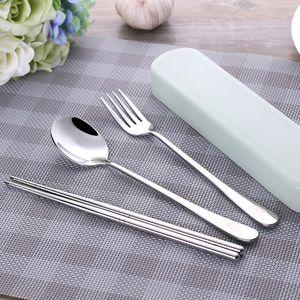 儿童小吃有盒韩版加厚筷子方便随身小学生外带餐具便携带勺子勺子