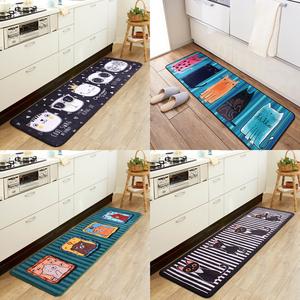 卡通<span class=H>地垫</span>门垫进门厕所门口蹭脚垫厨房长条吸水防滑垫卧室床边地毯