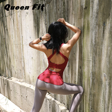 The Queen loves fitness tights, running shock-proof Yoga vest with breast cushion, women's sports Yoga suit
