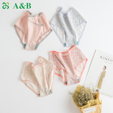 AB Underwear Shop Genuine Cotton Lycra Fashion Printing Mid-waist Antibacterial Small Flat Pants AB Underwear Women 1044