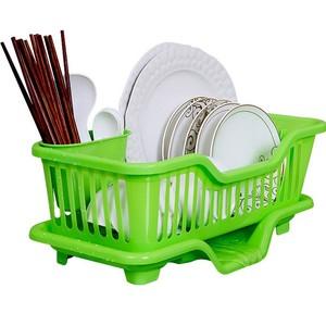 沥水碗架收纳篮水槽置物架厨房<span class=H>用品</span>整理塑料放碗碟置物架子沥水架