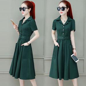 17連衣裙女夏季2019夏裝新款<span class=H>女裝</span>很仙的長裙流行氣質甜美中長款裙