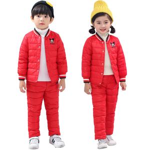 2019上衣<span class=H>裤</span>子童装儿童羽绒服内胆套装中小童男童女童羽绒服两件套