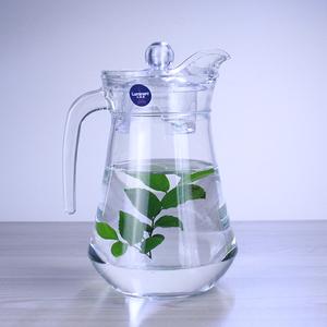 乐美雅玻璃壶热水壶<span class=H>冷水壶</span>凉水壶透明壶果汁冷饮壶耐热玻璃茶壶