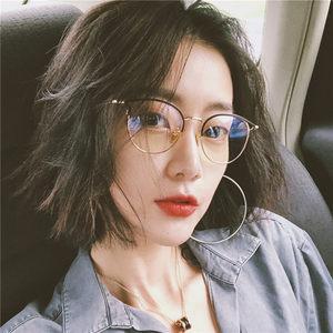 眼镜近视有度数网红款眼镜框女韩版潮个性装饰圆脸眼睛架ulzzang