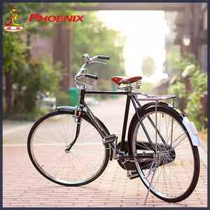 老上海凤凰26/28寸传统老式复古杆闸男女轻磅重磅加重载重<span class=H>自行车</span>
