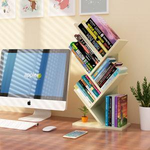 <span class=H>书架</span>立体简易桌上学生桌面斜放式木质小型省空间置物卧室经济型的